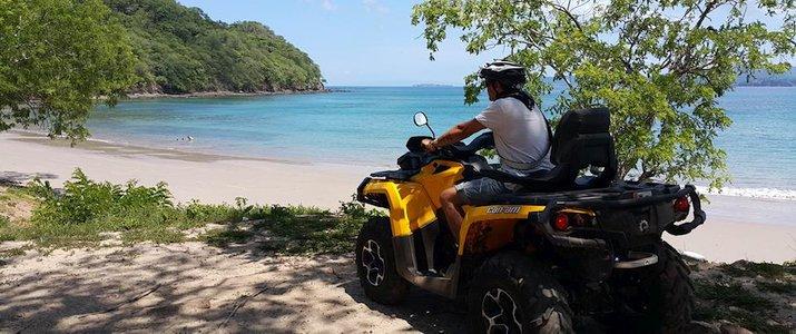 Luxury ATV Tour - Quad playa mina plage sable fin océan turquoise