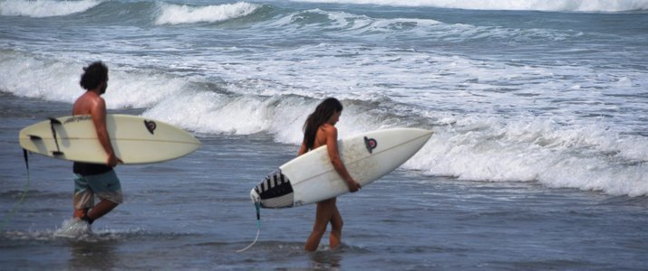 Avellanas Surf School Surfeurs Plage Vagues