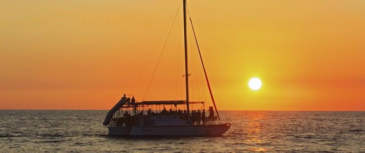 coucher de soleil Sunset Sails Tours