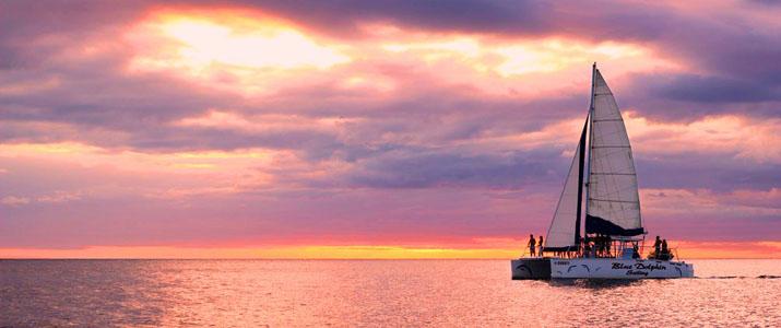 Blue Doplhin Sailing soleil mer