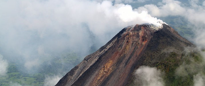 Flying Crocodile (Playa Garza)ulm vue du ciel volcan