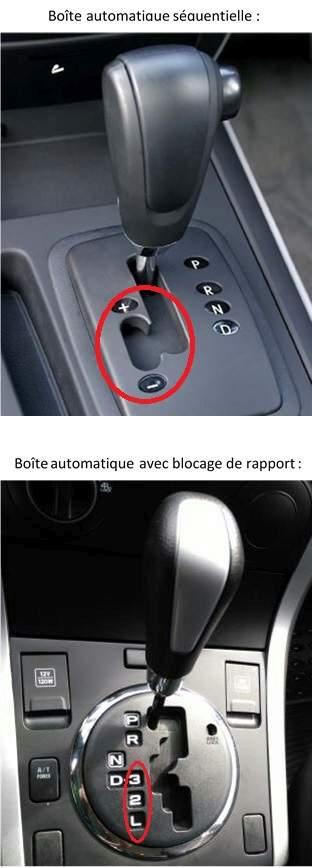Frein moteur sur boîte automatique