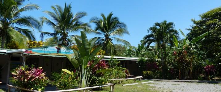 Colibri Rouge Cahuita Caraïbes Sud vue hôtel