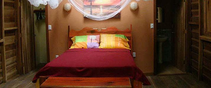 Casitas Moabi Caraïbes Sud Viejo de Talamanca Playa Cocles chambre double en bois