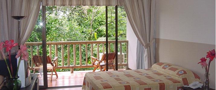 El Bambu Puerto Viejo de Sarapiqui Hotel Chambre double balcon