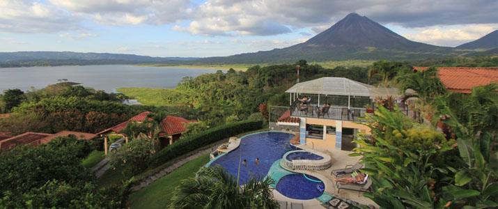 Hotel Linda Vista Norte Arenal La Fortuna El Castillo Volcan Vue aérienne Piscine