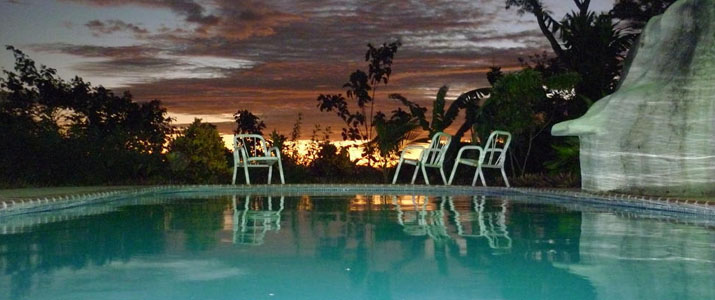 Cerro Lodge Pacifique Centre Hotel Costa Rica Pissine Couché de Soleil
