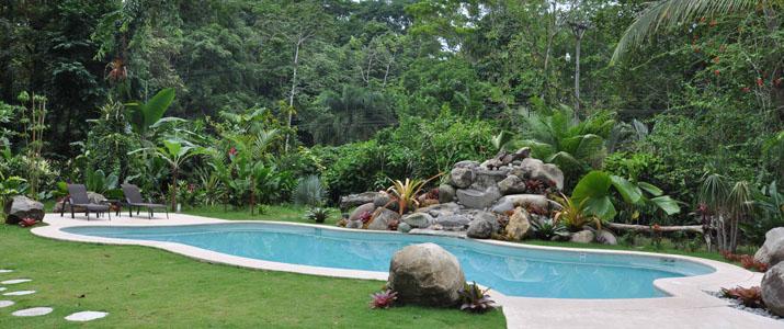 Shawandha lodge Caraïbes Sud Puerto Viejo de Talamanca grande piscine dans la jungle