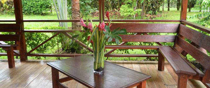 La Anita Rainforest Ranch Hotel Costa Rica Terrasse