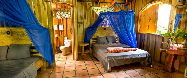 La casa de papito Caraïbes Sud Puerto Viejo de Talamanca bungalow en bois nature jungle
