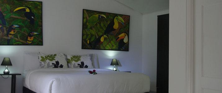 Hotel Quelitales Ujarras Vallée d'Orosi Cachi Turrialba Cathie Chambre