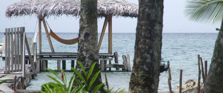 Tierra Verde Panama Bocas del Toro Almirante Isla Carenero Colon Caraïbes Sud Ponton Hamac Océan