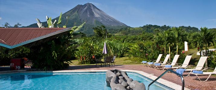 Arenal Spring Resort and Spa La Fortuna Volcan Hotel Cabinas Jardin Tropical Piscine