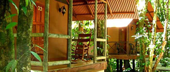 Hotel Rana Roja Extérieur lodges pilotis nature forêt