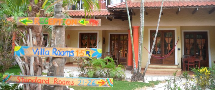 Hotel El Manglar Guanaste Playa Grande Vue Gros Plan panneau entrée