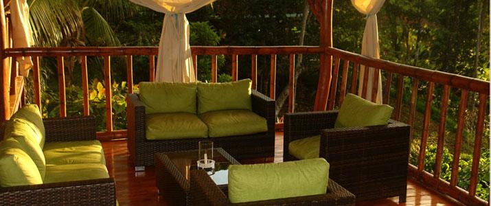 El Remansol lodge terrasse