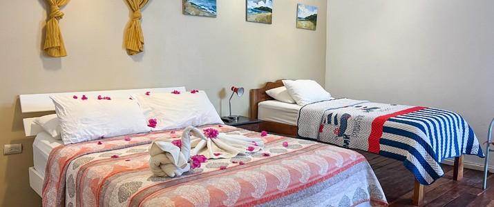 M&M - Garden House Playa del Coco Guanacaste Hotel Jardin Tropical Palmiers