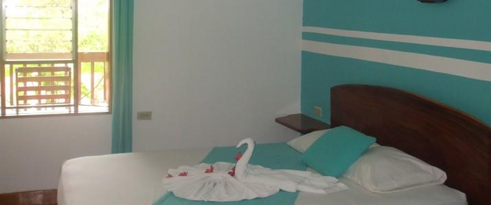 Chambre double bleue casa del mar Samara Costa Rica