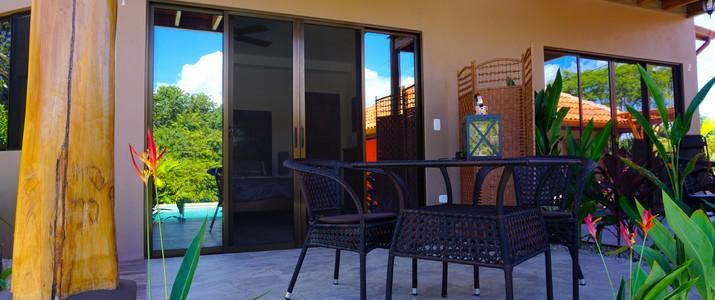 hôtel Casa Buenavista plage carrillo terrasse vue jardin nature