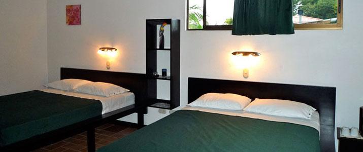 La Casa de las Flores Caraîbes Sud Cahuita Chambre Lit double style moderne