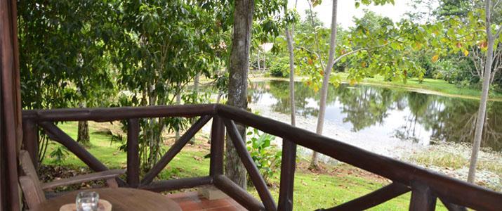 Maquenque Lodge Boca Tapada Verdure Cabina en Bois Point d'eau