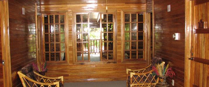 Santa Elena Lodge Guanacaste Bahia Salinas espace commun bois