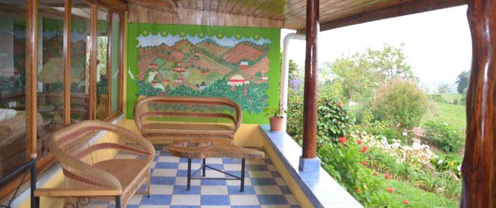 Guayabo Lodge Turrialba Santa Cruz Costa Rica Hotel Terrasse