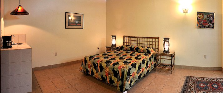 Playa negra Guesthouse Caraïbes sud Cahuita Chambre grande spacieuse lits double lumineuse
