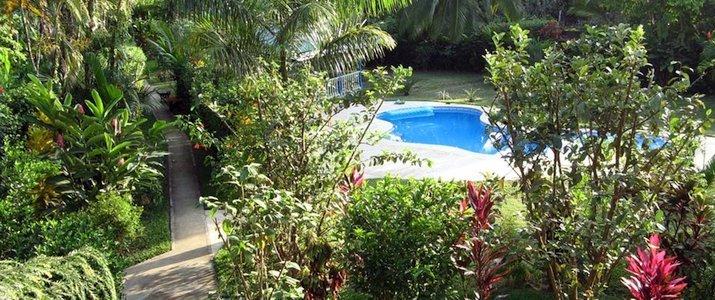 Playa negra Guesthouse Caraïbes sud Cahuita cottage terrasse