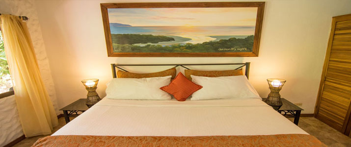 Conchal Hotel Guanacaste Playa Brasilito chambre lit double