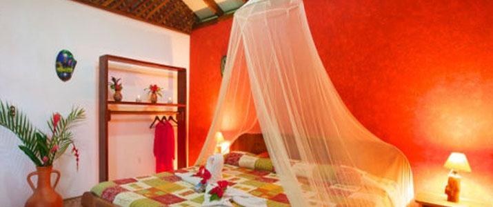 Suizo Loco Lodge Caraïbes Sud Cahuita chambre lit double