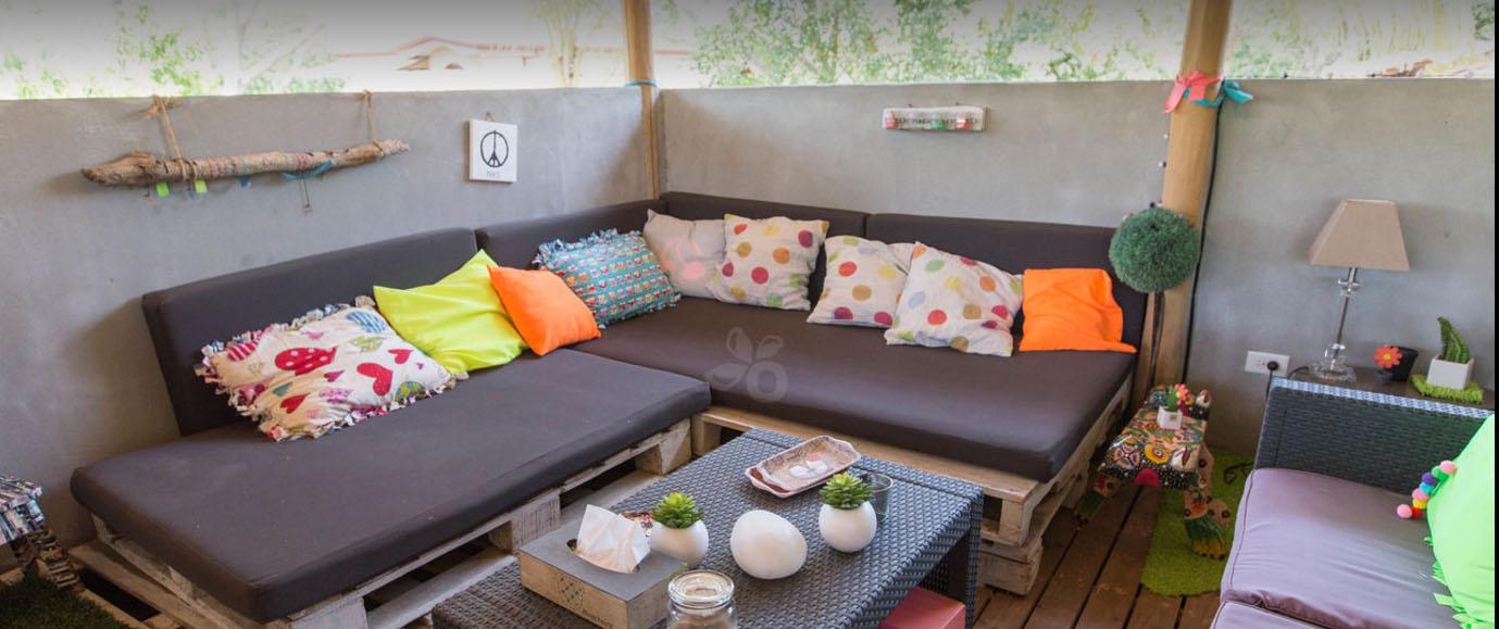 Quinta Esencia hôtel Guanacaste Playa Brasilito pièce commune canapé cosy