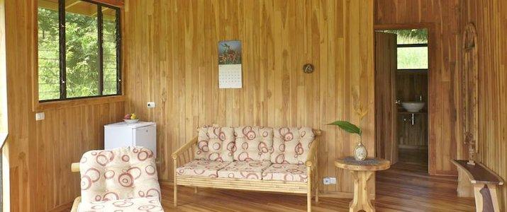 Finca Cantarana Nicoya Sud Jiracal Montaña Grande Salon Bois