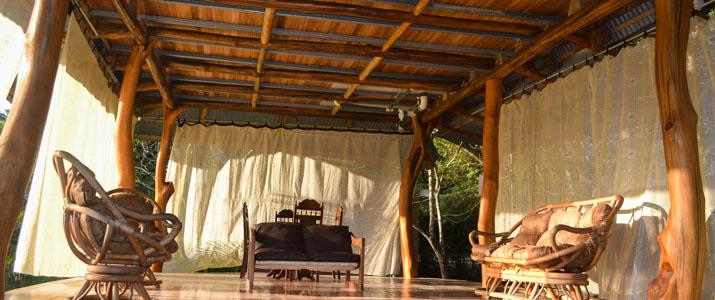 Ostional Turtle Lodge terrasse