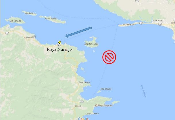 Fermeture temporaire embarcadère Paquera Nicoya Ferry Traversier Naranjo